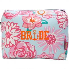 Nautical Bride Makeup Bag