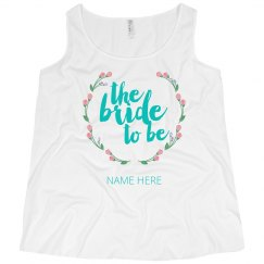 The Bride to Be Floral Tank