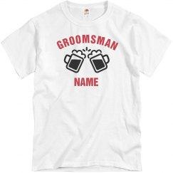 Custom Groomsman Beer Mugs