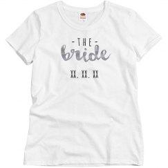 Bride Gang Metallic Custom Date