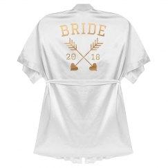 Bride Rose Gold Metallic Robe