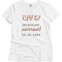 Metallic OMFG We Just Got Married