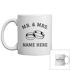 Custom Mr & Mrs Just married