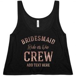 Copper Shiny Bridesmaid Crew