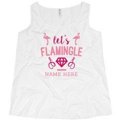 Let's Flamingle Custom Plus Size Tank