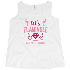 Let's Flamingle Custom Plus Size Tank