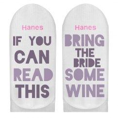 Bring Bride Wine Socks