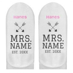 Custom Mrs Name Socks