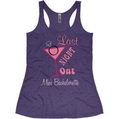 Ladies Slim Fit Super Soft Racerback Triblend Tank