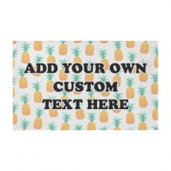 Cute Custom Text Pineapple Pattern