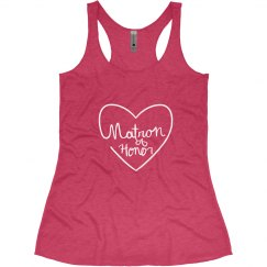 Matron of Honor Tank With Heart
