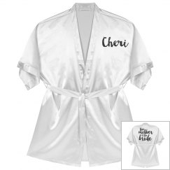 Personalized Mother of the Bride Robe