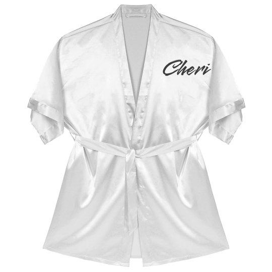 bb51da9bb8 Personalized Mother of the Bride Robe Satin Kimono Short Robe