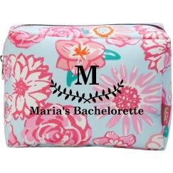 Monogram Bride Makeup Bag