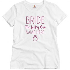 The Lucky Bride Custom  Name Here