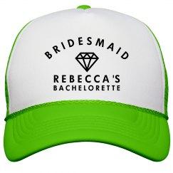 Bridesmaid Neon Hat