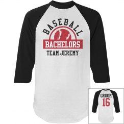 Baseball Bachelors Party Groom