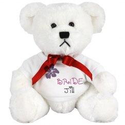 Bride w/ Name Teddy