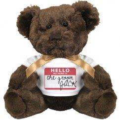 Groom w/ Name Teddy