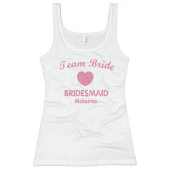 Team Bride Tank w/back