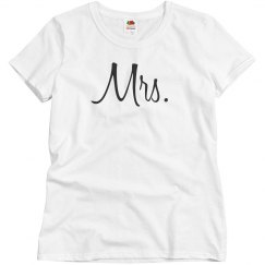 Simple Mrs & Mr Couples Design