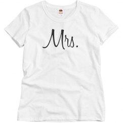 Simple Mrs & Mr Couples Design