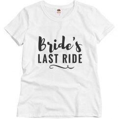 Bride's Last Ride Bachelorette Party