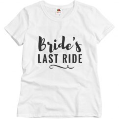 Bride's Last Ride Bachelorette Party