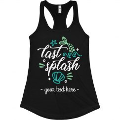 Personalized Last Splash Bachelorette Tank