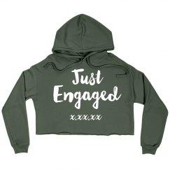 Just Engaged Crop Hoodie