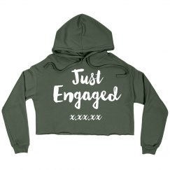 Just Engaged Crop Hoodie