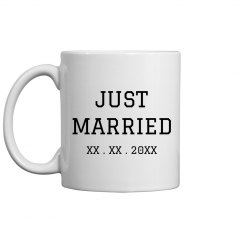 Simple Just Married Mug