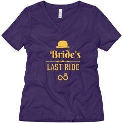 Bride's Last Ride tshirt