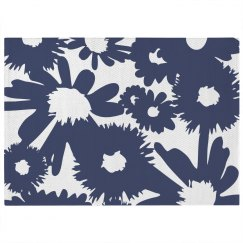 Graphic Floral Print Rug
