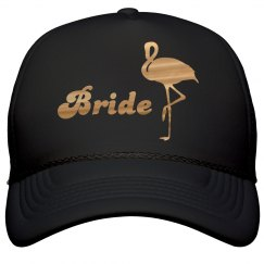 Flamingo Gold Bride Hat