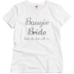 Bougie Bride: Only the best will do Silver Metallic