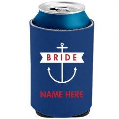 Nautical Anchor Bride Koozie