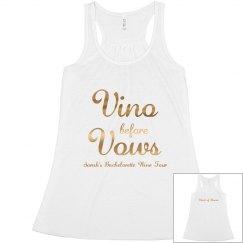 Metallic Vino Before Vows Tank