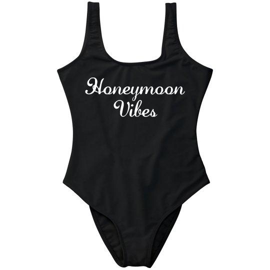 790a9ebec0 Honeymoon Vibes Beach Bride One Piece Swimsuit