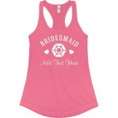 Diamond Bridesmaid w/ Name