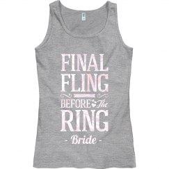 Metallic The Final Fling Bride