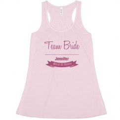 Team Bride Flowy Tank