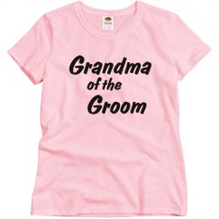 Grandma of the Groom Woman's T-shirt