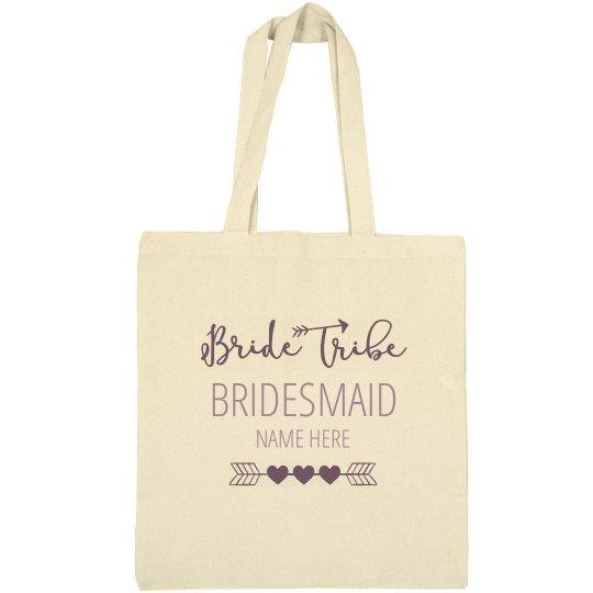 df318650bf98 Cute Custom Name Bridesmaid Bride Tribe Tote Bag