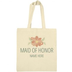 Custom Floral Maid Of Honor