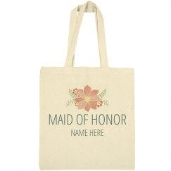 Custom Floral Maid Of Honor