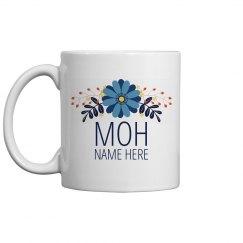 Custom Floral MOH Gift