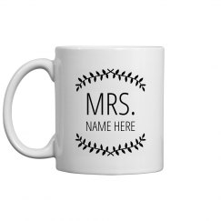 Custom Mrs. New Name With Laurels