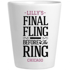 Final Fling Shot Glass