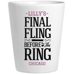 Final Fling Shot Glass
